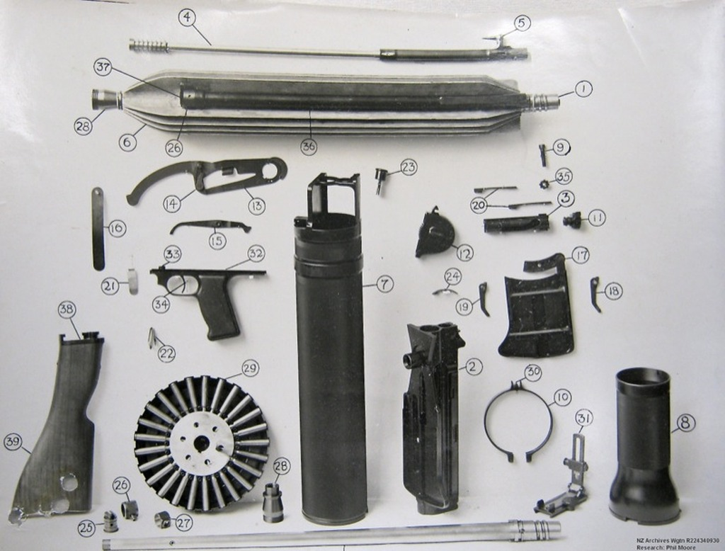 Lewis Gun In Pieces