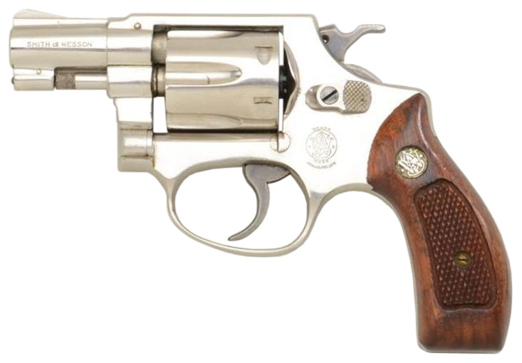 File:S&W Model 30 snub Nickel.jpg