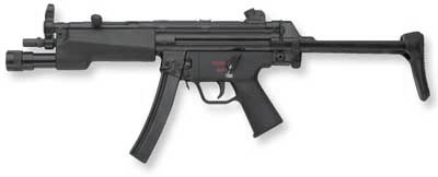 Heckler & Koch MP5A3 9x19mm with Surefire 628 dedicated forend weaponlight and safe-semi-two round burst trigger group