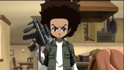 Boondocks Huey With GunThe Boondocks Huey With Gun