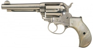 Colt Lightning, similar to the one used by Val Kilmer in Tombstone, with a full-length ejector rod housing.