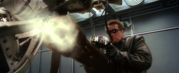 Image result for terminator robot with machinge gun