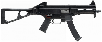 Heckler & Koch UMP9 (note curved magazine) - 9x19mm