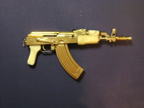 Top Gold Plated Ak 47 Wallpaper Wallpapers