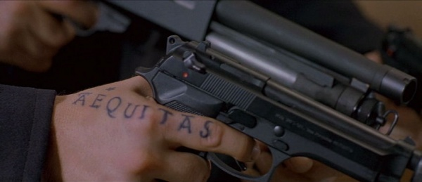 boondock saints tattoos. The tattoo on his hand is