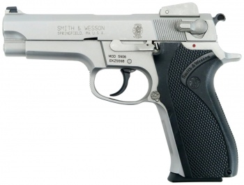 Smith & Wesson 5906, late model with adjustable sights and blue-steel  hammer and trigger - 9x19mm