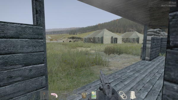 The tent city is surveyed a Walther P1 watching over them closely. & DayZ - Internet Movie Firearms Database - Guns in Movies TV and ...