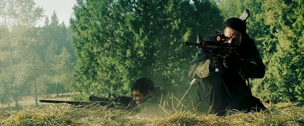 Swagger fires an M4A1 while Memphis uses a Remington Model 700