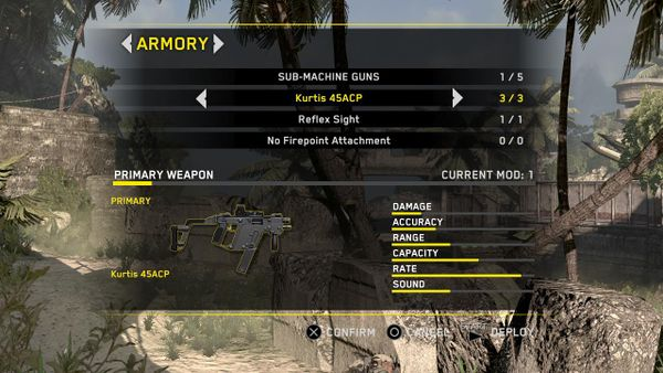 Vector in the MP weapon selection screen.