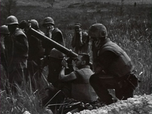 A Soldier Fires M9 Bazooka In The Sound Of Thunder