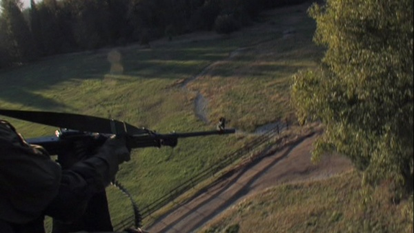 A shot of the machine gun in the DVD extras.