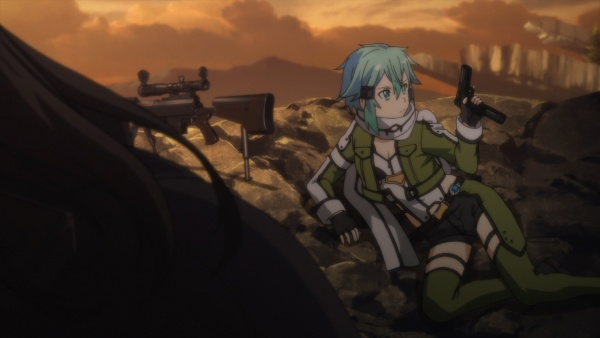 After Being Released Sinon Is Shocked That Kirito Trusts Her Enough To Simply Let Go When She Still Has Pistol In Hand Ep8