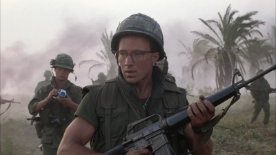 Arliss Howard as Cowboy holds MGC M16 replica in Full Metal Jacket    Arliss Howard Full Metal Jacket