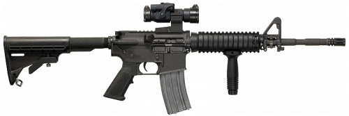 M4A1 with RIS foregrip and M68 Aimpoint red dot scope 5.56x45mm